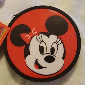 NWT disney park minnie mouse zip-up stationary kit